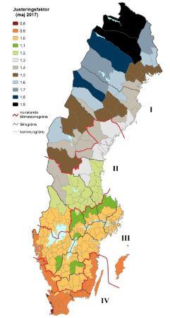 Geografiska Justeringsfaktorer