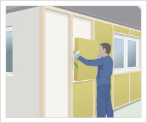 Udvendig efterisolering af ydervæg(med mulighed for at give huset en ny facade)